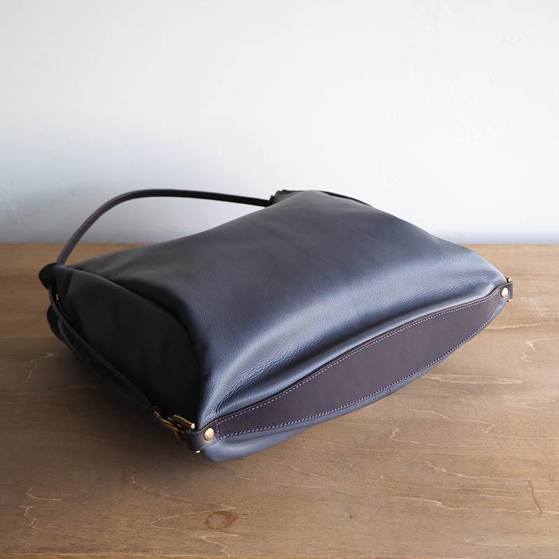 2WAY LEATHER BAG DSTO-03(SMALL) GOAT goose gray 2ウェイレザーバッグ ゴート グースグレー