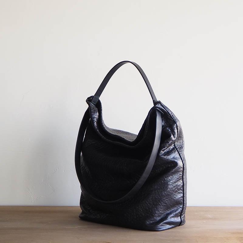 2WAY LEATHER BAG OT-02(LARGE) LAMB black 2ウェイレザーバッグ ラム ブラック