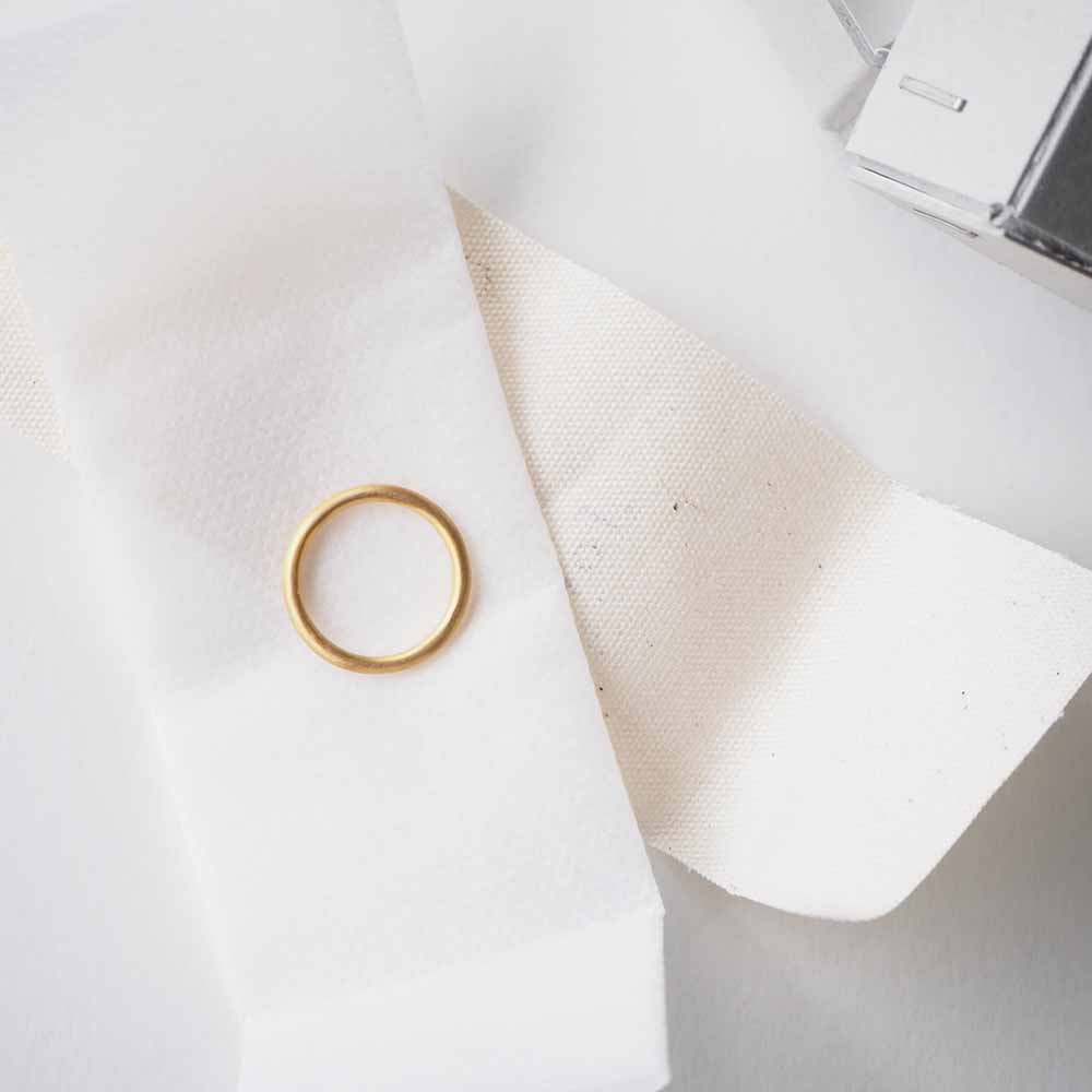 line ring circle brass+18KGP gold ラインリング ゴールド