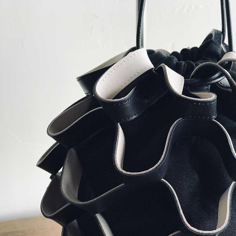 GASSAI BAG  BLACK レザーミニバッグ ブラック