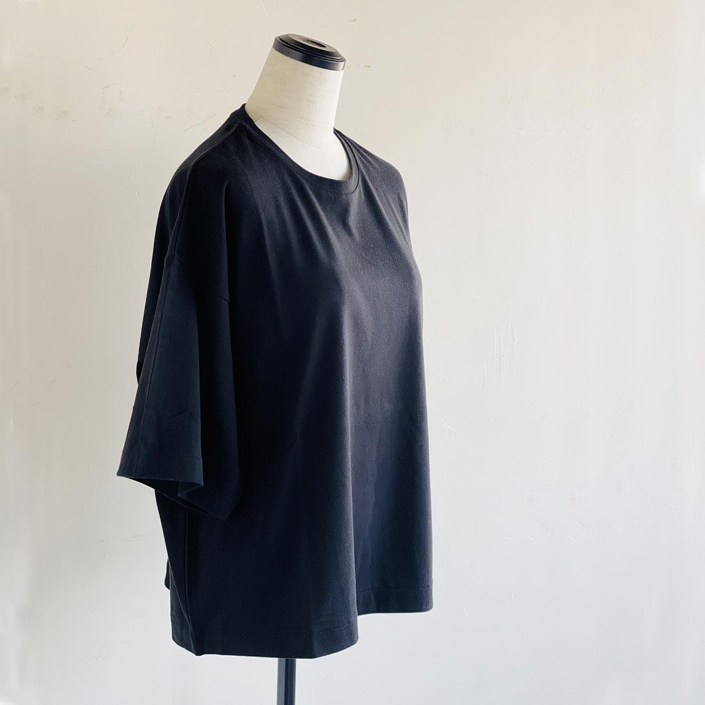 NEPLA. WOMENS WIDE-T ネプラ ウィメンズ ワイドTシャツ ブラック