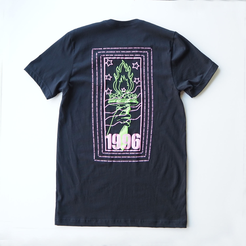 am / after midnight nyc エーエム アフターミッドナイト AM 1996 TEE プリントTシャツ ブラック
