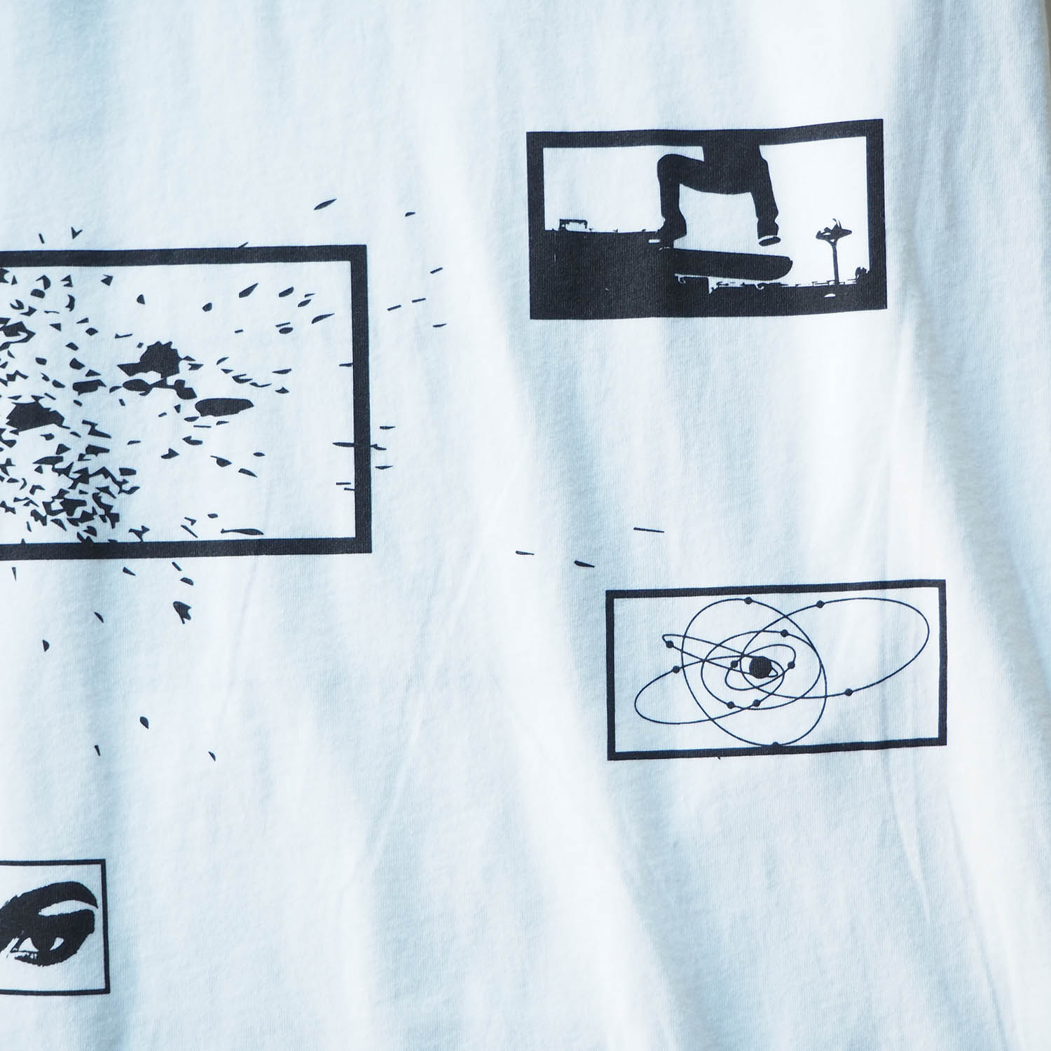 am / after midnight nyc エーエム アフターミッドナイト ABSTRACT TEE プリントTシャツ ホワイト