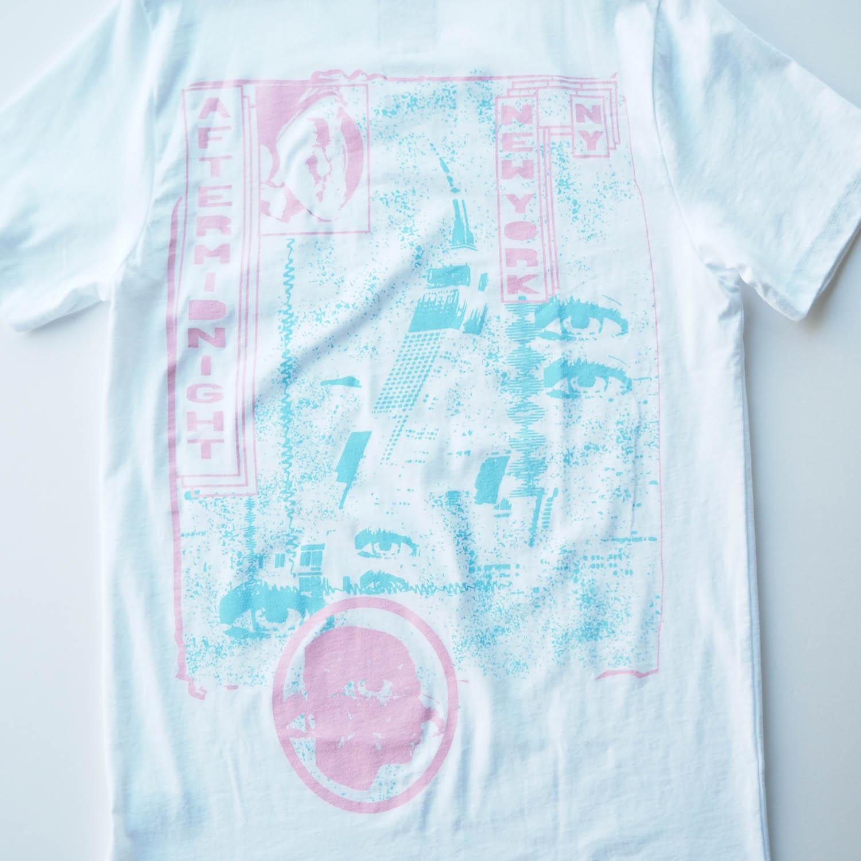 am / after midnight nyc エーエム アフターミッドナイト NEW YORK TEE プリントTシャツ ホワイト