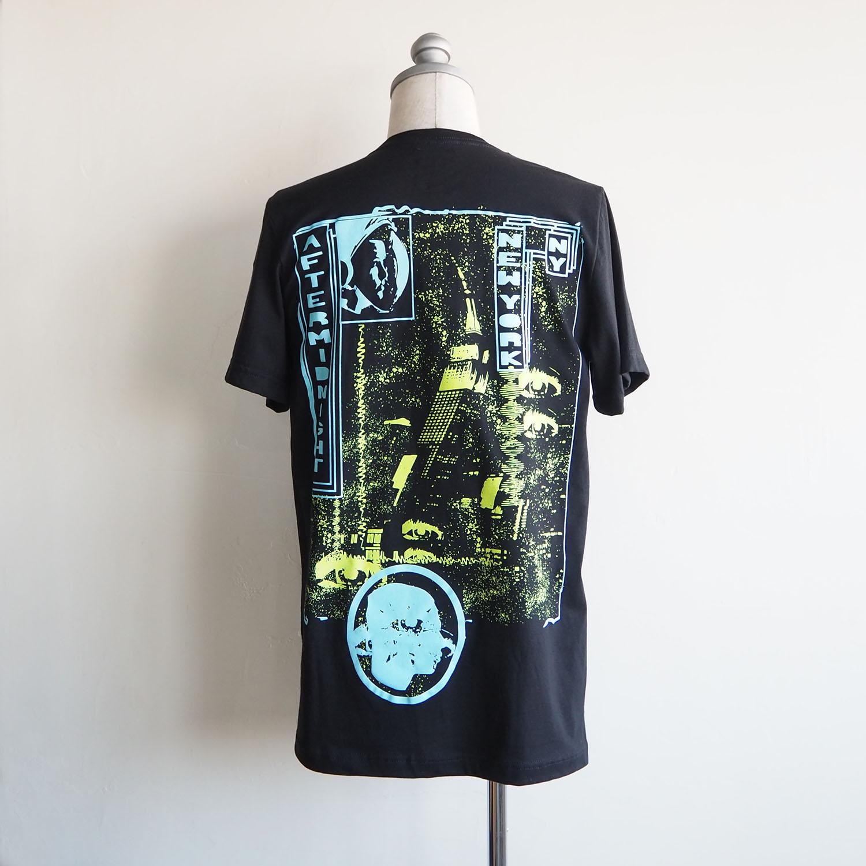 am / after midnight nyc エーエム アフターミッドナイト NEW YORK TEE プリントTシャツ ブラック