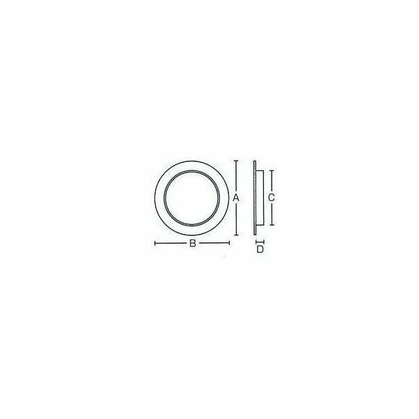 ふすま用 引き手 金物引手 年輪 シノ(大) 鉄・真鍮製 (襖/ふすま/襖用/引手/取手/取っ手/金具)