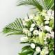 スタンド花 Lサイズ(ホワイト・グリーン系)