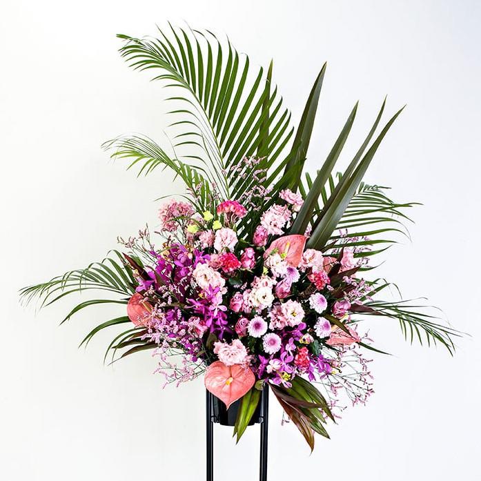 スタンド花 Lサイズ(ピンク系)