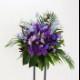 スタンド花 Mサイズ(パープル系)
