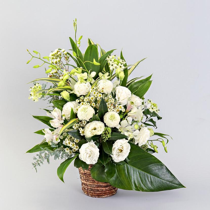 アレンジメント Mサイズ(ホワイト・グリーン系)