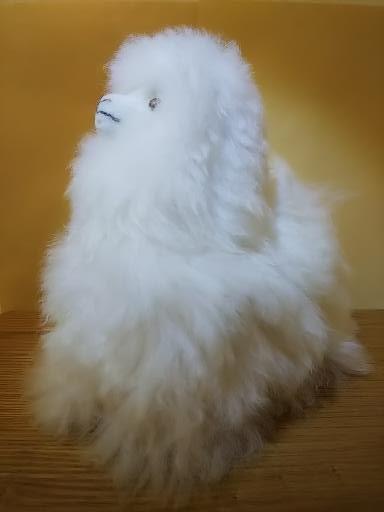 本物のベビーアルパカ毛100%使用!触り心地最高ふわっふわのアルパカぬいぐるみ20cm(ホワイト)