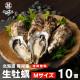 【送料無料】生牡蠣Mサイズ10個 北海道厚岸産(殻付き)産地直送