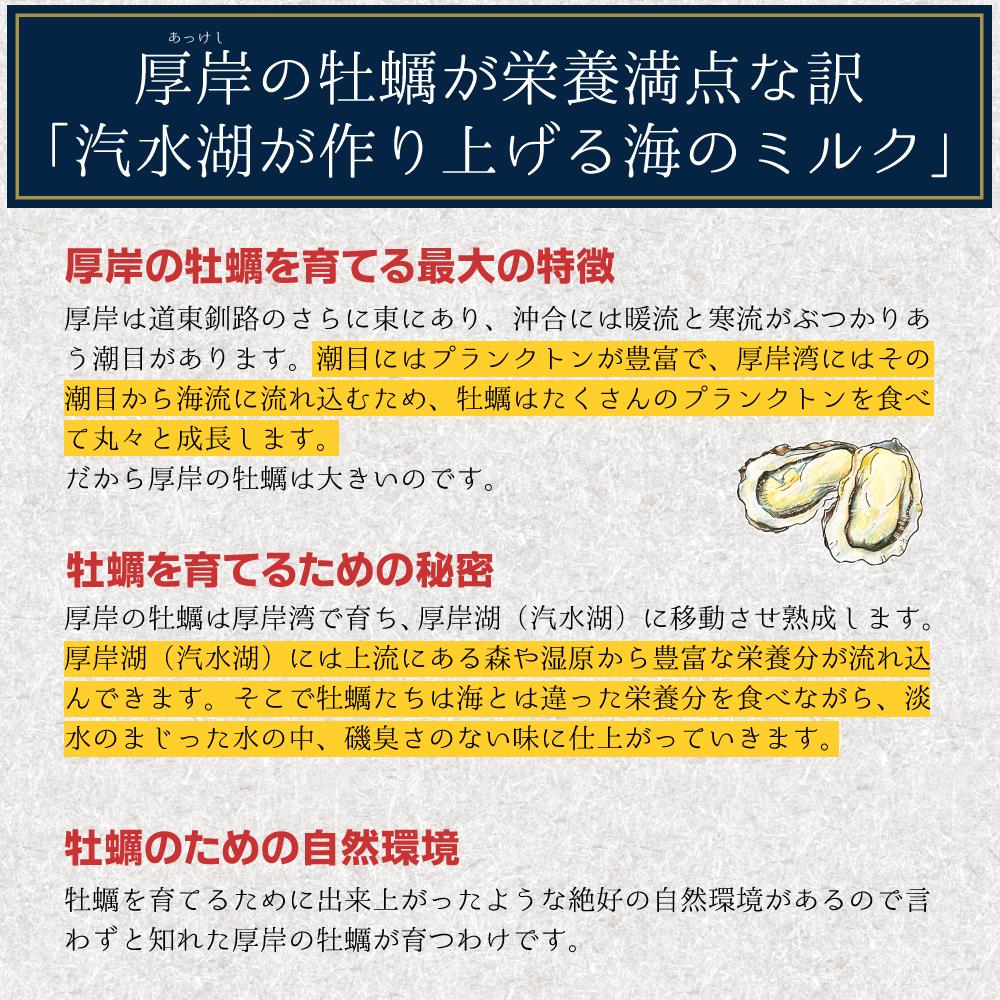 【送料無料】生牡蠣Lサイズ30個 北海道厚岸産(殻付き)産地直送