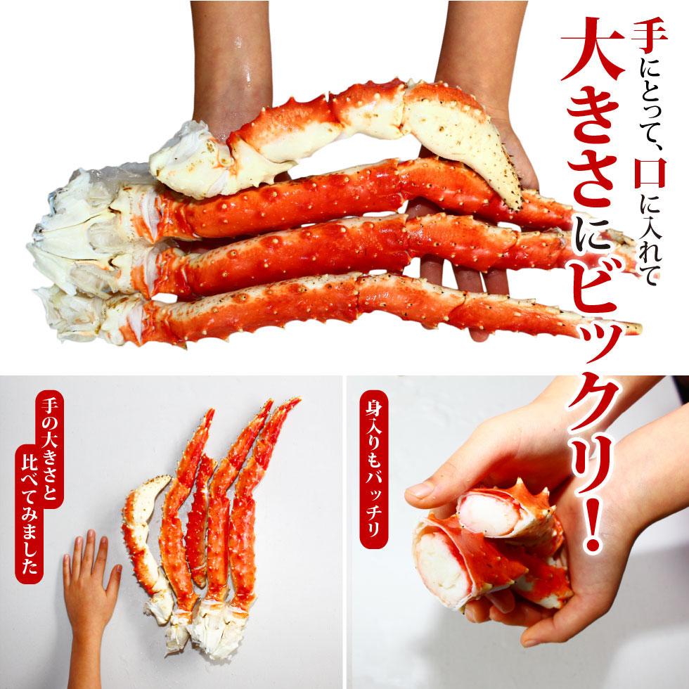 【送料無料】ボイルタラバガニ 脚 1肩 1kg