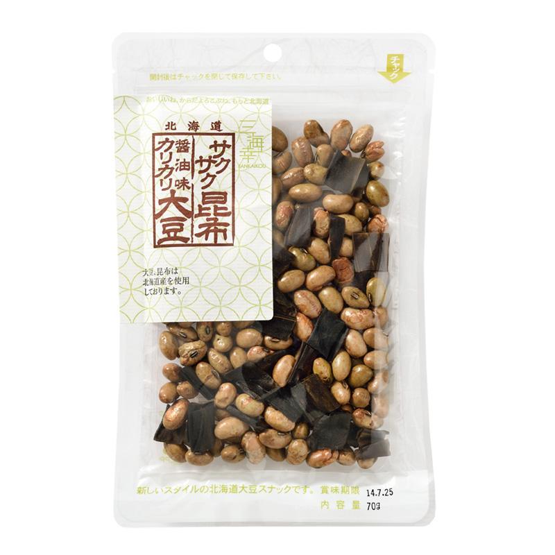 醤油味カリカリ大豆・サクサク昆布70g 20袋セット