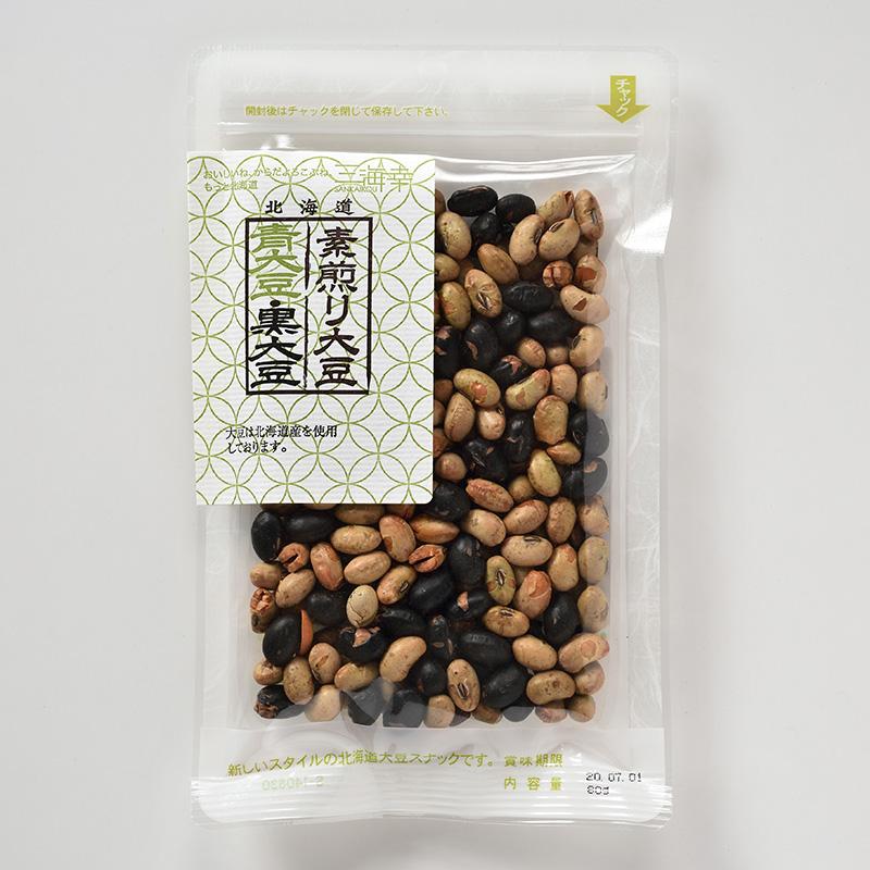 素煎り青大豆・黒大豆ミックス80g 20袋セット