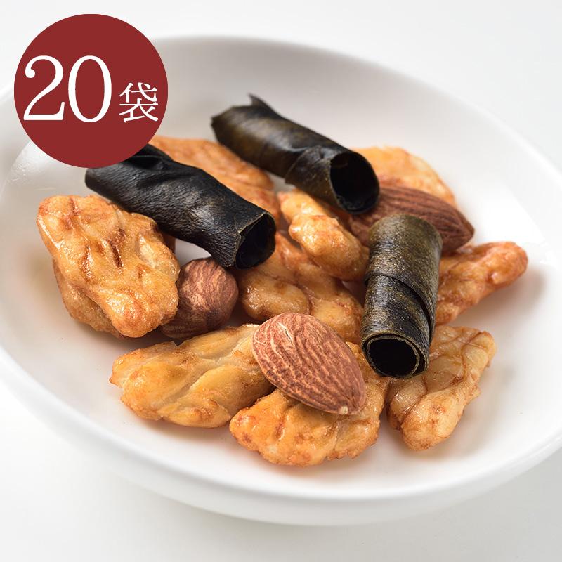 まきまき昆布・柿の種・アーモンドミックス28g 20袋セット