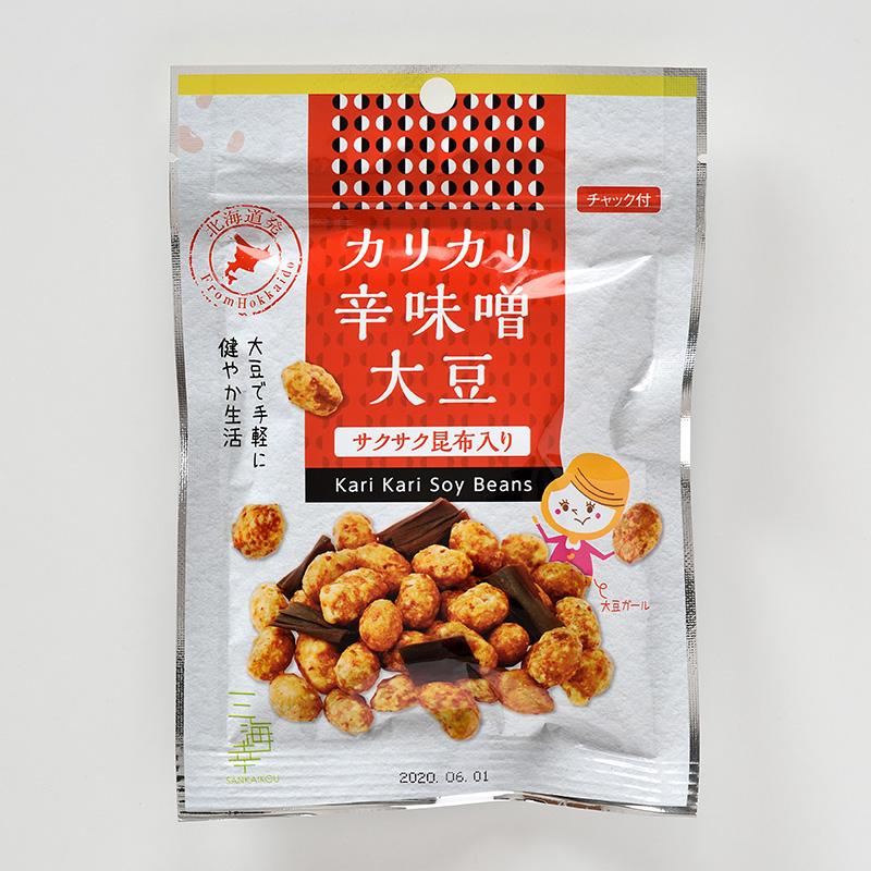 カリカリ辛味噌大豆・サクサク昆布33g 20袋セット