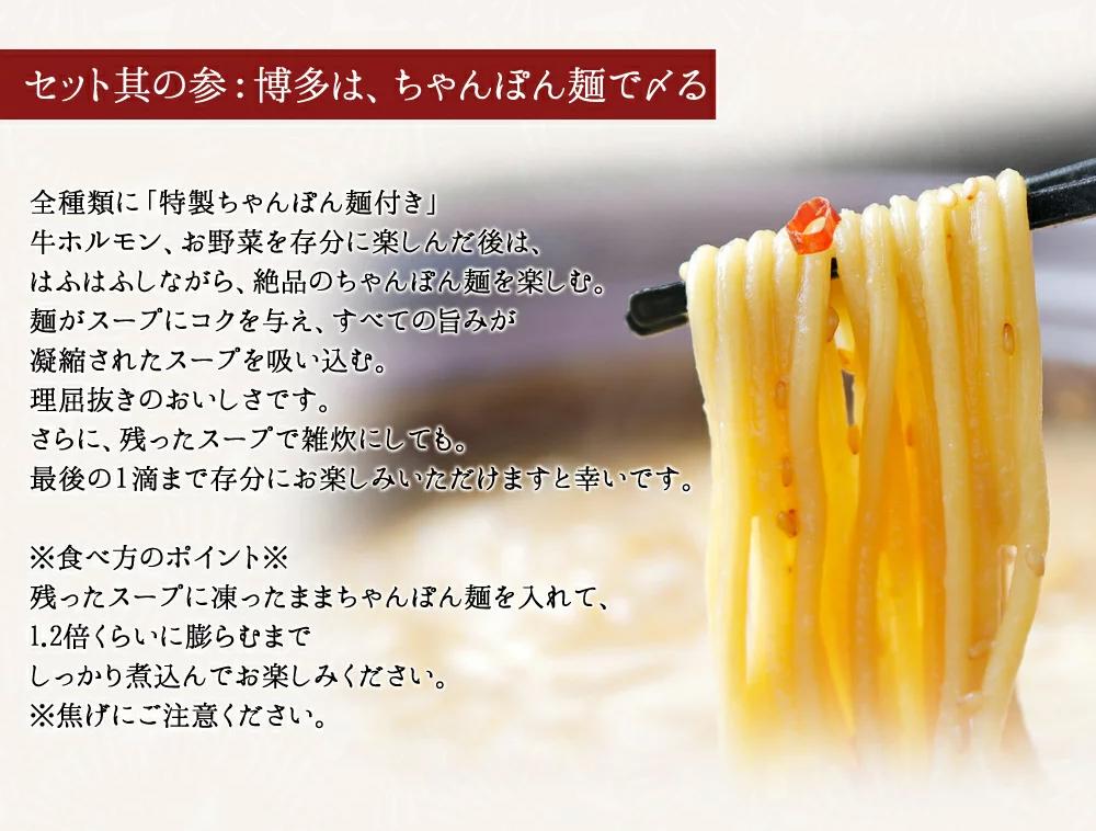 超メガ盛りもつ鍋セット(3〜4人前)