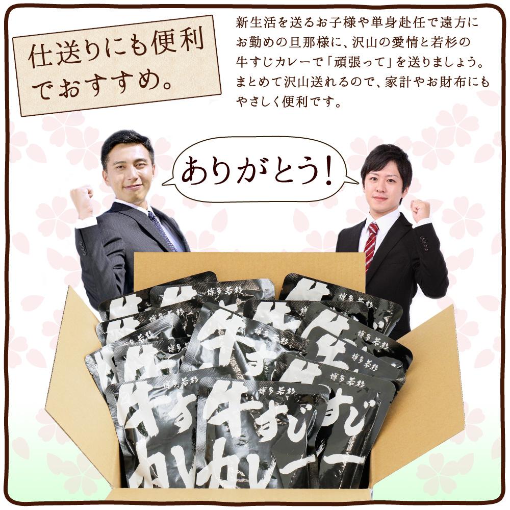 【送料無料】★まとめ買い★博多若杉牛すじカレー12パック