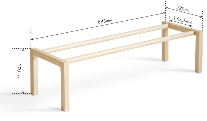 「木製シューズラック(1段)」