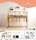 日本製 ベビーベッド 「ワンタッチハイベッド クール  + Shirai ダブルガーゼ ≪洗えるベビー布団セット≫」