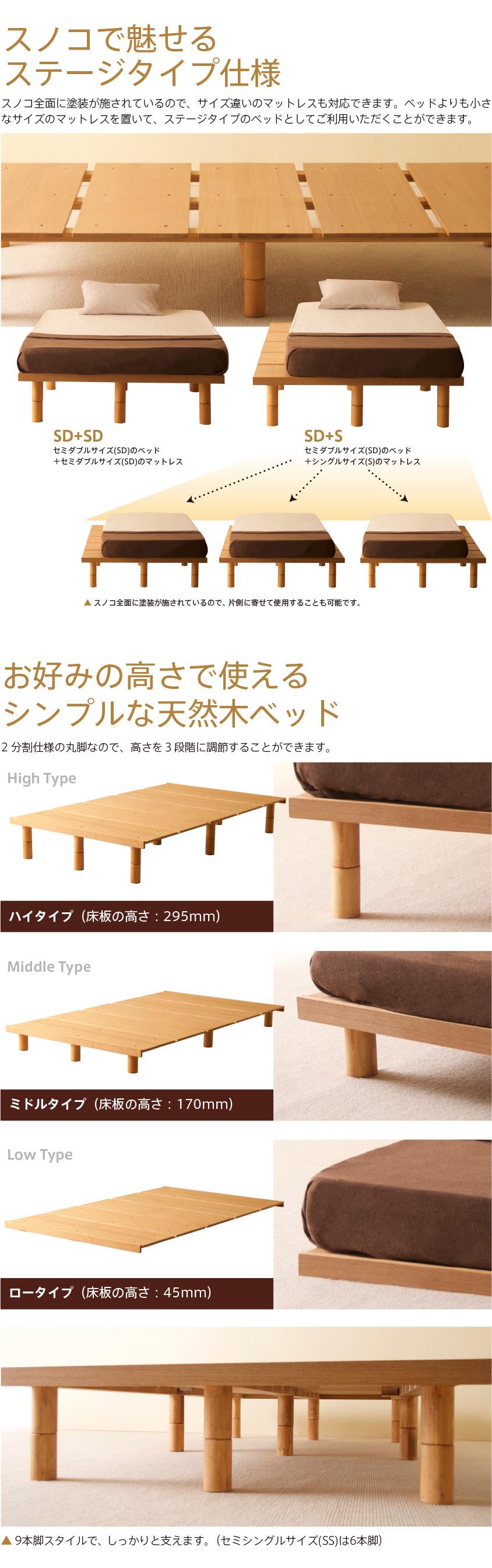 木製ベッドフレーム「mjuk(ミューク)」