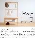 木製「ベンチハンガー」 玄関収納 シューズラック スリッパラック 玄関ベンチ 収納ベンチ ハンガーラック 石崎家具