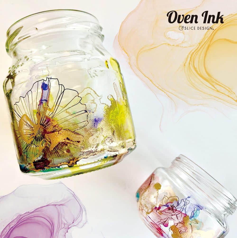 ラインアートフラワーズ-アネモネ  A4サイズ - Line Art Flowers-Anemone [オーブンインクアートシート][ネコポス配送可] ■OVEN INK-オーブンインク(オーブンレンジ焼成用)
