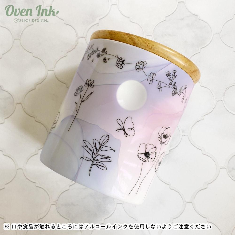 ラインアートフラワーズ-ガーデン  A4サイズ - Line Art Flowers-Garden [オーブンインクアートシート][ネコポス配送可] ■OVEN INK-オーブンインク(オーブンレンジ焼成用)