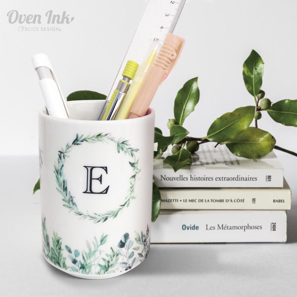 グリーンリーフ A4サイズ - Green Leaves [オーブンインクアートシート][ネコポス配送可] ■OVEN INK-オーブンインク(オーブンレンジ焼成用)