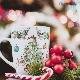 ジョイフルクリスマス(水彩)A4サイズ - Joyful Christmas (Watercolor)[オーブンインクアートシート][ネコポス配送可] ■OVEN INK-オーブンインク(オーブンレンジ焼成用)