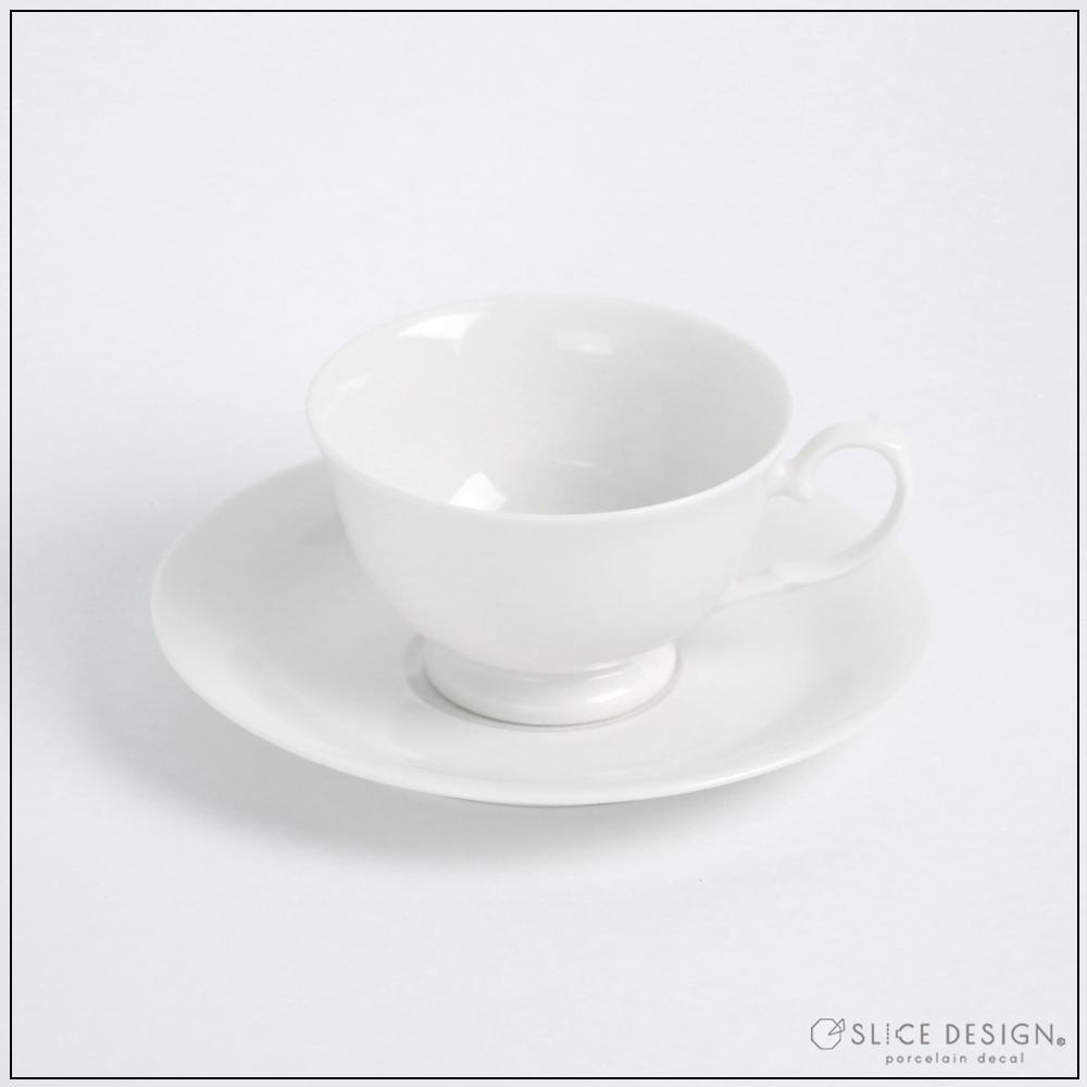 エレガントカップ&ソーサー  [宅配便配送] ■白磁・ガラス