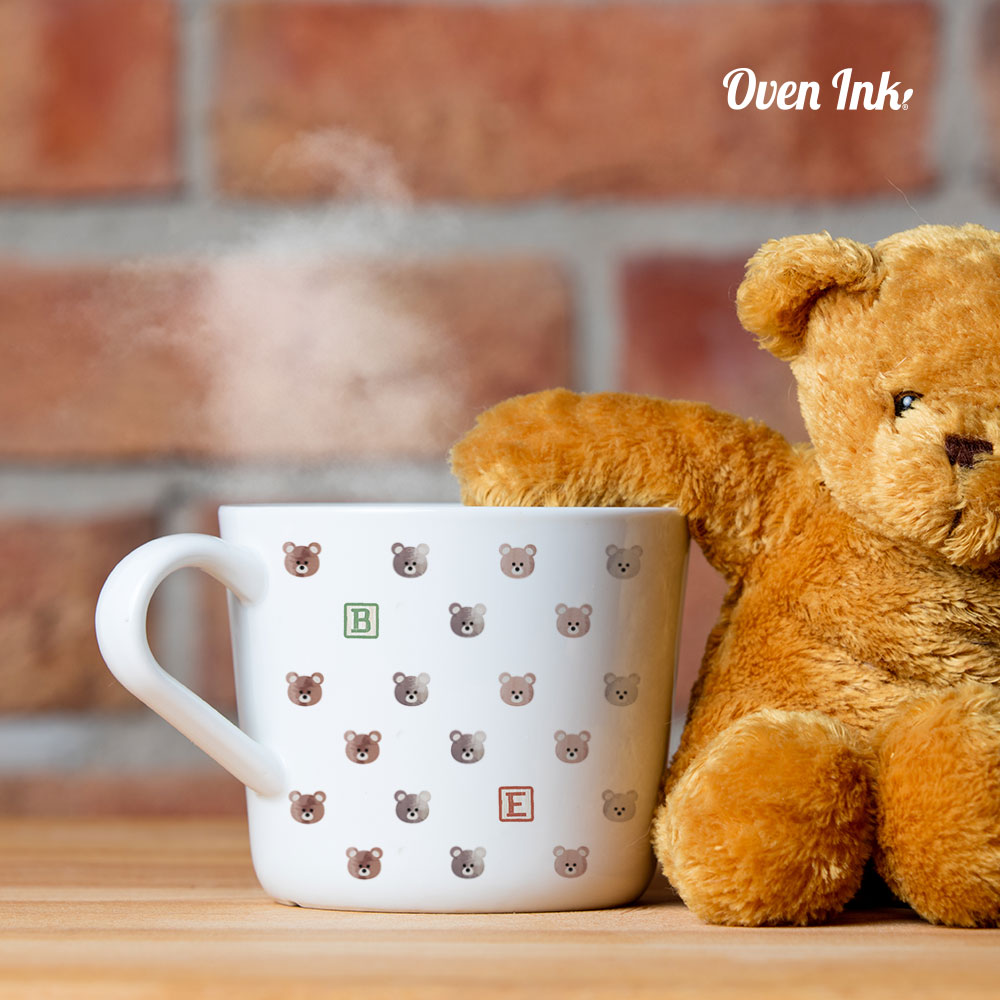 [ミクロ]くま - [micro]Bear [オーブンインクアートシート][ネコポス配送可] ■OVEN INK-オーブンインク(オーブンレンジ焼成用)