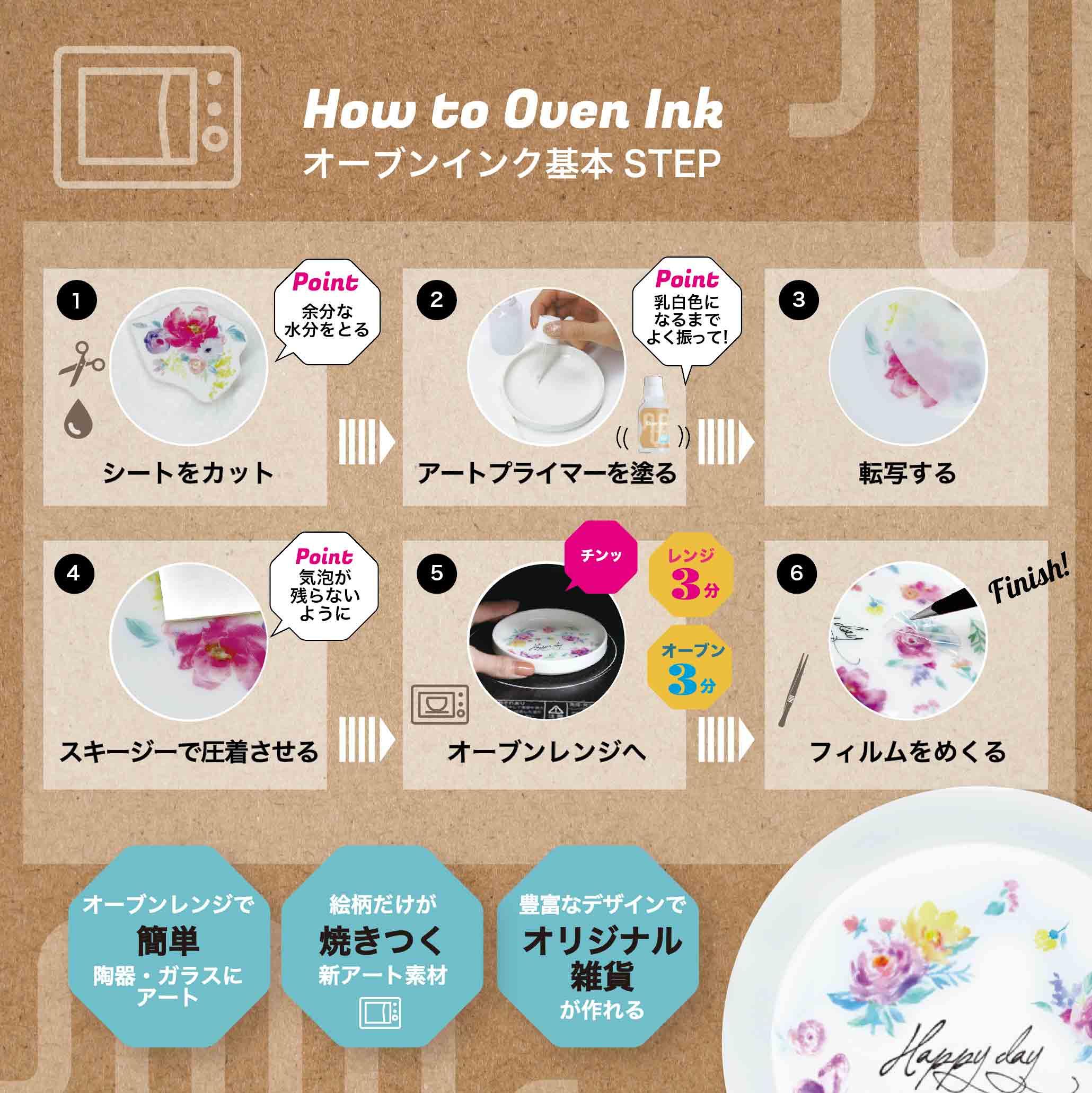 オーブンインク アートプライマー30ml - Oven Ink Art Primer [オーブンインクツール][宅配便配送] ■OVEN INKオーブンインク(オーブンレンジ焼成用)