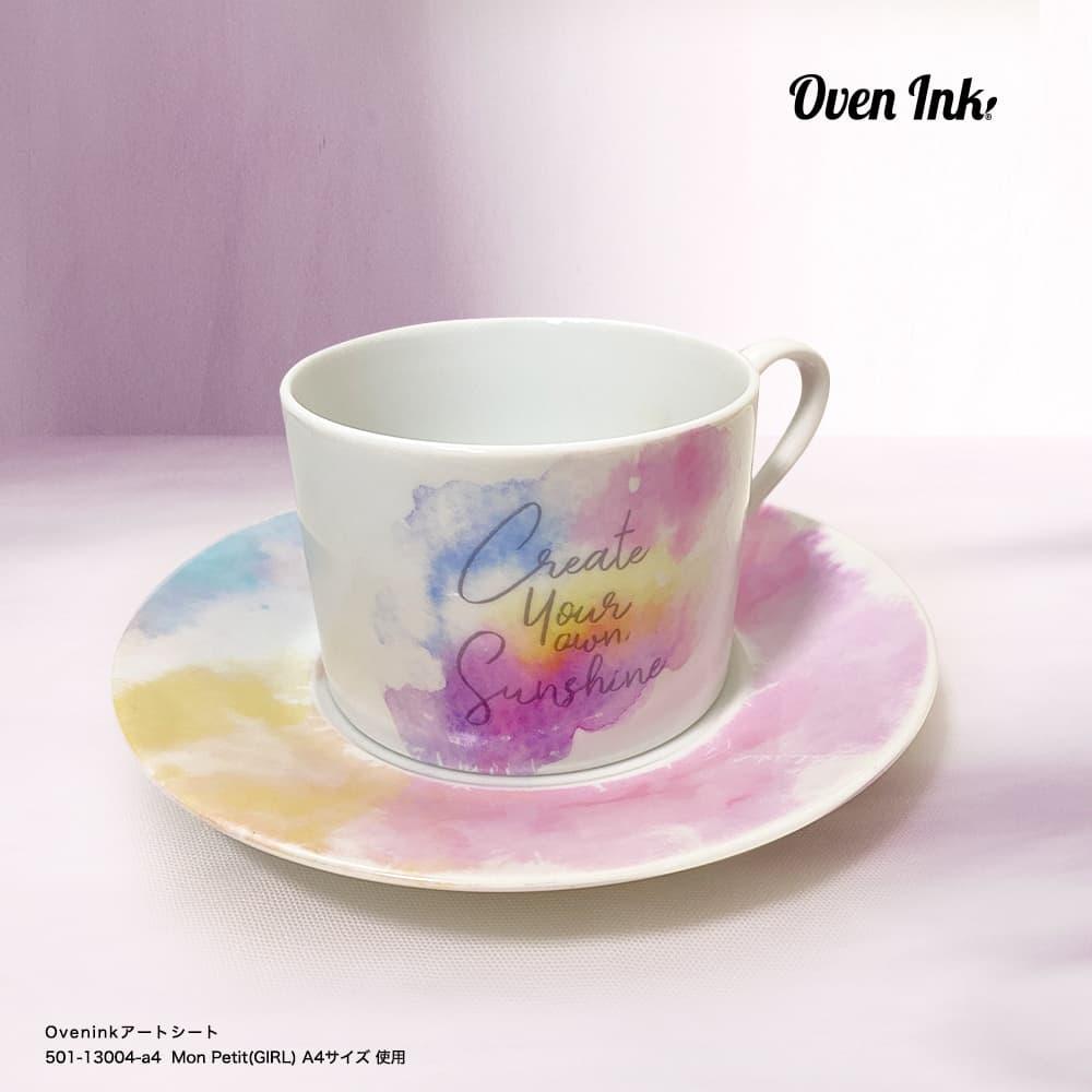 ウォーターカラーズ テクスチャー(パステルカラー) A4サイズ - Water Colors Texture (Pastel color)[オーブンインクアートシート][ネコポス配送可] ■OVEN INK-オーブンインク(オーブンレンジ焼成用)