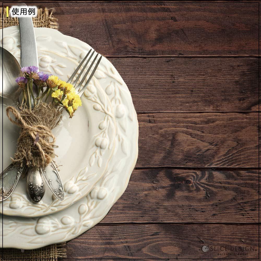 Wood Terrace(Mocha) - ウッドテラス(モカ)[表面マット仕上げ] [宅配便配送]■Scene Screen Paper-シーンスクリーンペーパー