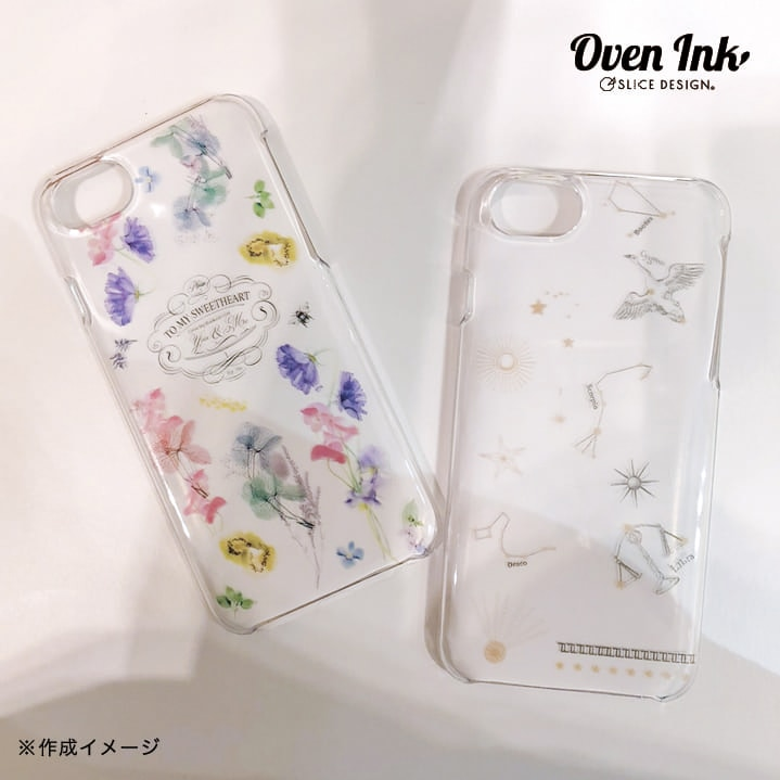 オーブンインク対応 スマートフォンケース(クリア)- Oven Ink hard case protector for iPhone(Clear)[オーブンインク雑貨][ネコポス配送可] ■OVEN INK-オーブンインク