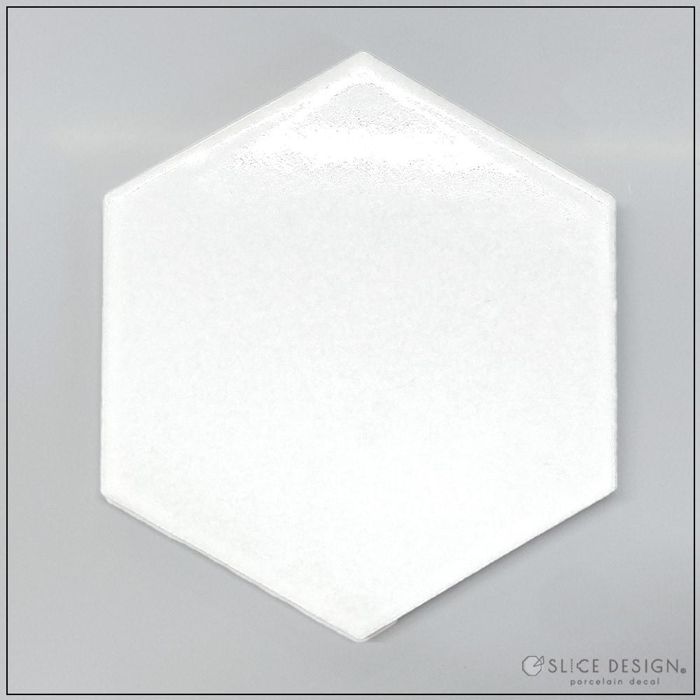 六角形タイル [宅配便配送] ■白磁・ガラス