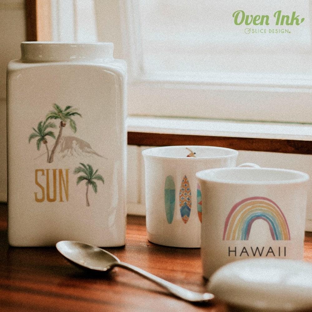 ハワイアンリゾート A4サイズ - Hawaiian resort [オーブンインクアートシート][ネコポス配送可] ■OVEN INK-オーブンインク(オーブンレンジ焼成用)