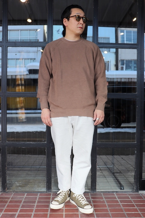 CURLY/ASSEMBLY CREW KNIT