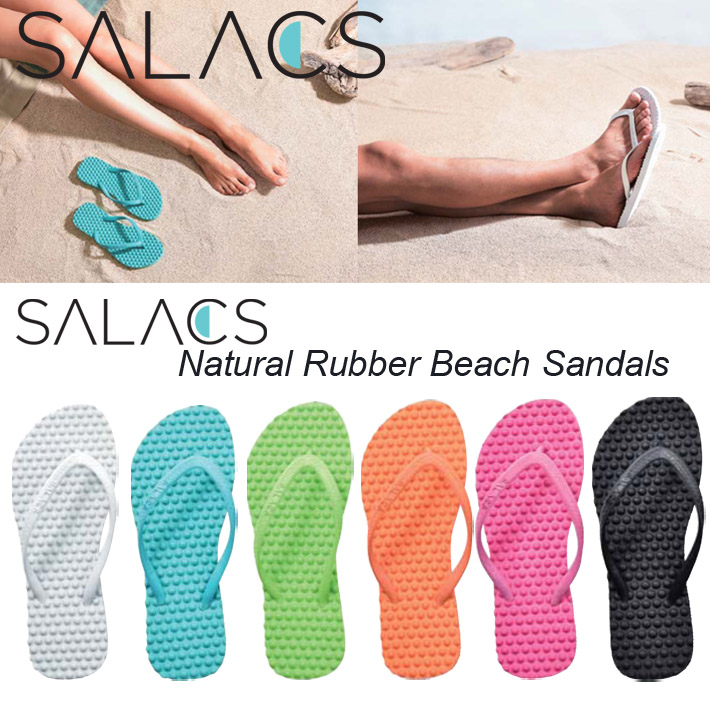 【SALACS】サラクス ベーシックビーチサンダル  ビーサン/海水浴/サーフィン/プール/ビーチ/天然ゴム/オーガニック メンズ サンダル クリックポスト対応商品(日時・代引不可)