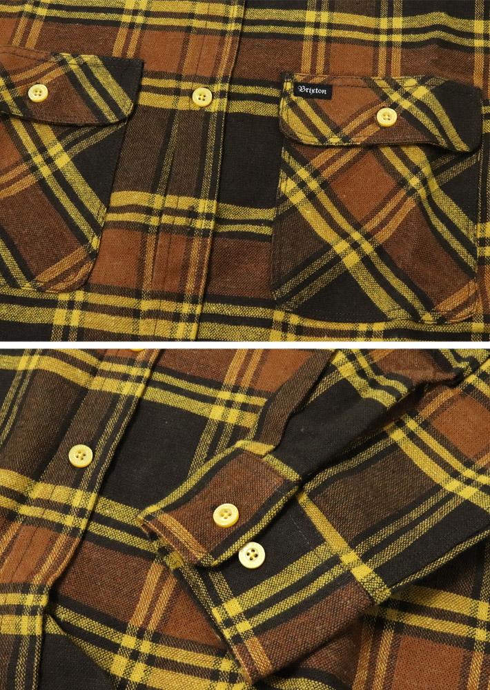 BRIXTON ブリクストン シャツ 長袖シャツ BOWERY L/S FLANNEL ワークシャツ チェックシャツ メンズ ストリート スケボー サーフィン