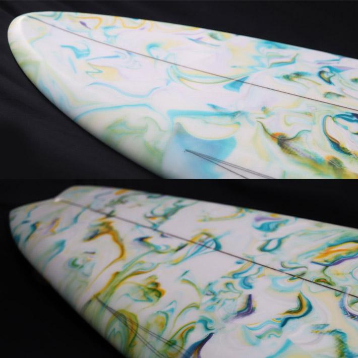 【RYAN BURCH SURFBOARDS】ライアンバーチ サーフボード  CUTTLE FISH MODEL5'6 LARRY GEPAHART WOOD FIN サンディエゴで最もアツい若手シェイパー入手困難