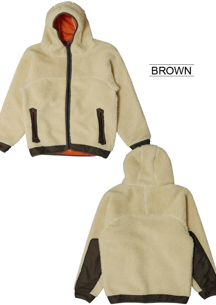ボア ブルゾン ボア ジャケット ロングボア ボアコート slowlife もこもこ アウター コート ファー ブルゾン フリース 防寒 メンズ レディース 日本製