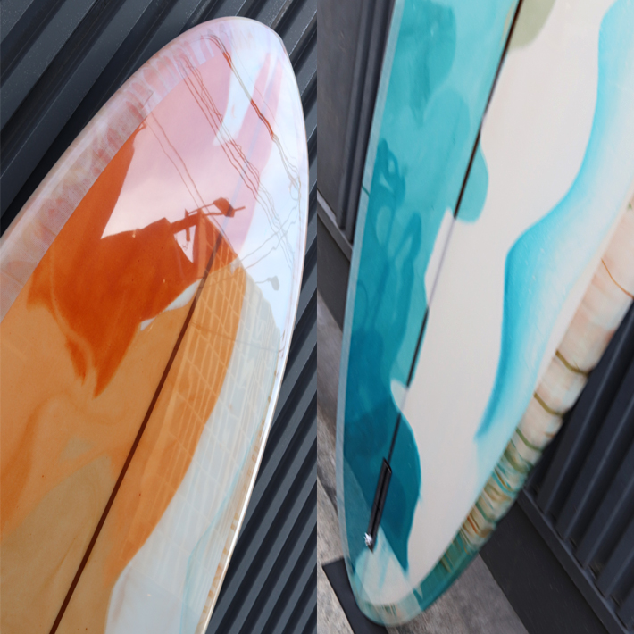 "RYAN BURCH SURFBOARDS ライアンバーチ サーフボード MID LENGTH MODEL 7'11"" ポリッシュ仕上げ サンディエゴで最もアツい若手シェイパー 希少 /入手困難  ※別途送料"