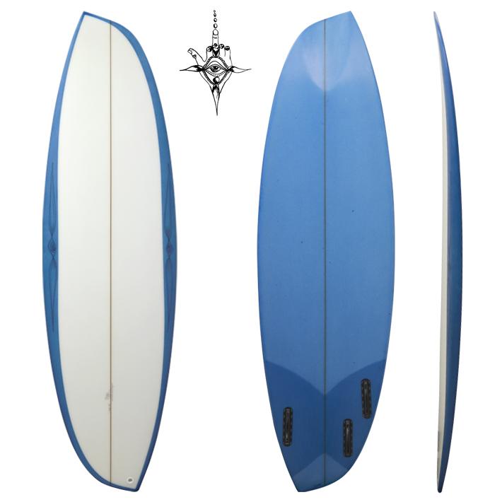 "RYAN BURCH SURFBOARDS ライアンバーチ サーフボード ASYMMETRICALS MODEL 5'9"" (Regular stance)レギュラースタンス 専用FIN付き!非対称(アシンメトリー)入手困難"