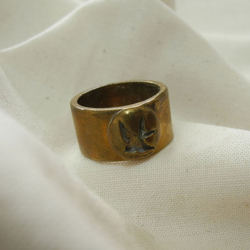 Brass Swallow Ring