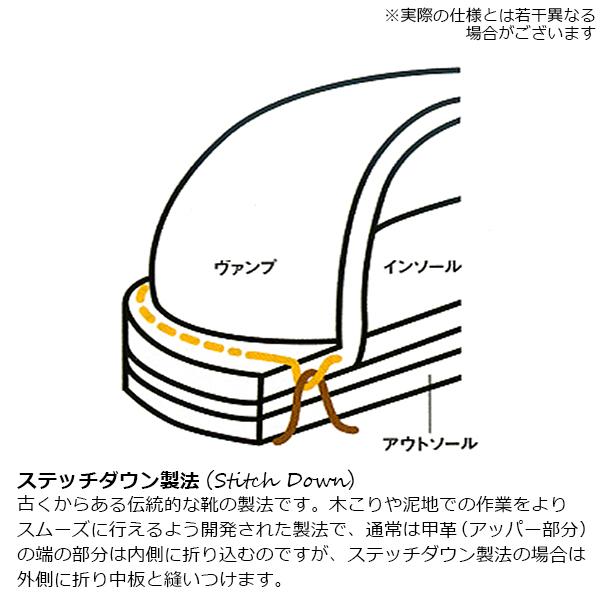 SWL[8593H]クロムエクセルレザープレーンMIDブーツ ビブラムソール#100 BROWN