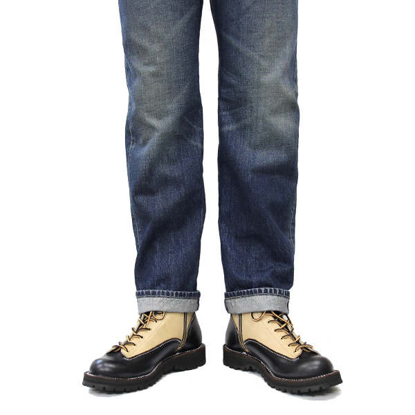 廃番セール30%オフ!/SWL[8223HK]クロムエクセルレザー6インチレースブーツ ビブラムソール#148 BLACK×SAND